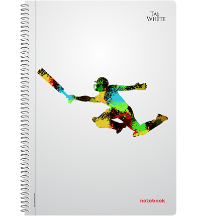 Spiral Notebook A4 (29.7 * 21 cm) - Single Line Pg 180
